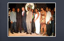 Boo Hinkson with President Bill Clinton